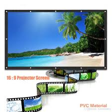 100 inch curtains. 100 Inch 16:9 Portable Hd Projector Screen Curtains Film , Hot Sales With Good Quality Rear Projection Tv Outdoor Movie From