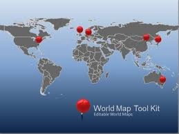 Editable World Map For Powerpoint Animated World Map Toolkit For Powerpoint