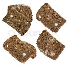 Mold On Black Bread Isolated On White Stock Image Colourbox