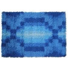 mid century modern geometric print scandinvian rya rug at mid century modern rugs uk