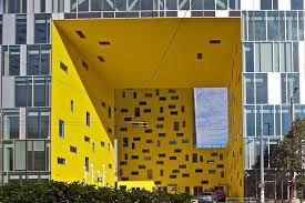 architecture yellow. saintetienne office building architecture yellow