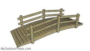 arched garden bridge free diy plans