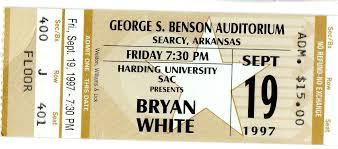 Bryan Whites Concert Tour History Concert Archives