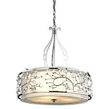 kichler barrington chandelier charming round silver metal with motif chandeliers extraordinary island pendant