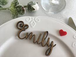 wooden laser cut names wedding table place custom name place setting wooden table place cards card ideas guest name wood signs