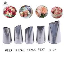 5pcs Pastry Nozzles Premium 304 Stainless Steel Rose Petal