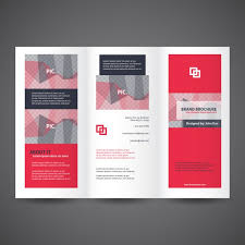 Foldable Brochure Template Free Red Trifold Brochure Template Vector Free Download