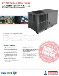 goodman electric heat kit. goodman packaged units provide quiet, year-round comfort from a single, self-contained unit and at 16 seer meets the new 2015 epa laws. electric heat kit