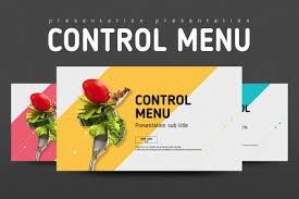 Menu Presentation Design Control Menu By Good Pello On Creative Market Creative