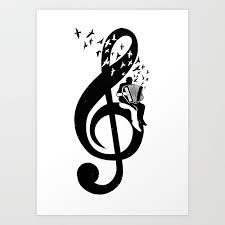 Treble Clef Accordion Art Print By Barmalisirtb Society6