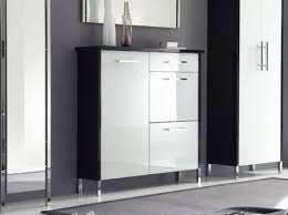 white shoe cabinet furniture. orion 3 door and 1 drawer shoe cabinet in white high gloss with black frame furniture a