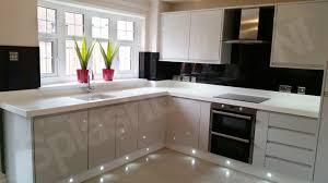 Black Splashback Kitchen Ral 9005 Jet Black Glass The Most Reflective Colour On Glass