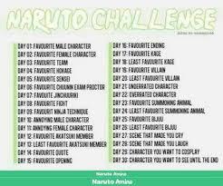 Naruto Sensei Chart Naruto 30 Day Challenge Naruto Amino