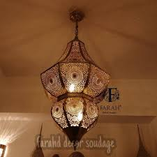 moroccan ceiling light antique brass