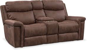 living room furniture montana dual power reclining loveseat with console