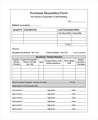 purchase request template purchase requisition form template