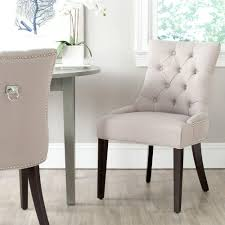 safavieh harlow taupe linen side chair (set of )mcraset