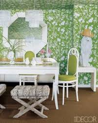 palm beach decor. Wonderful Beach Vintage Mirror Xbase Stools And Thonet Chairs In The Dining Area Of A Palm  Beach Condo Floral Wallpaper Is From Bob Collins U0026 Sons Intended Decor