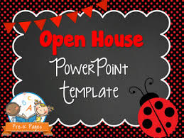 Open House Powerpoint Ladybug Open House Powerpoint