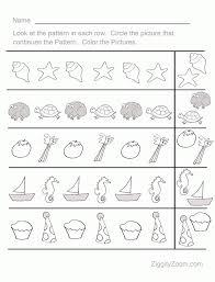 Sequence Pattern Amazing Fun Pattern Sequence PreK Worksheet 48 Kiddos Pinterest