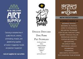 nola bark market new orleans school of art and craft and new orleans art supply