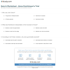 quiz worksheet anne hutchinson s trial com print trial of anne hutchinson history significance timeline worksheet