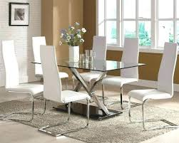 circle glass dining table and chairs medium size of modern glass dining table and 6 chairs