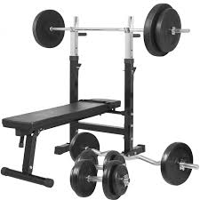 Weights Measures Chart Weight Bench With 100kg Vinyl Weight Set