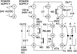 kt4 temperature controllers discontinued products wiring external connection diagram