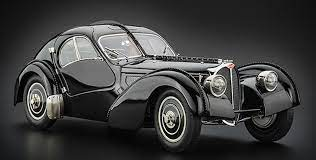The type 57sc chassis was the combination of the supercharged 57c engine with the low and short 57s chassis used for racing. Cmc Bugatti Type 57 Sc Atlantic 1938 Black Currently Not Available Cmc Modelcars