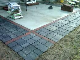 ideas pavers over concrete patio for unique installing
