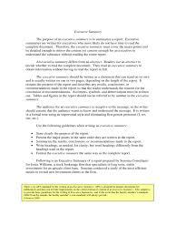 Sample Executive Summary Free Download