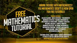 mathematics tutorial far eastern university no worries fellow tams because the mathematics society is here all set and ready to help you out