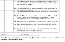Figure F 1 Sample Lesson Fidelity Checklist First Grade Math