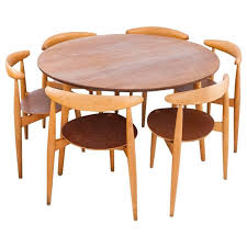 awesome round table and chair set danish modern set a round table and six chairs hans