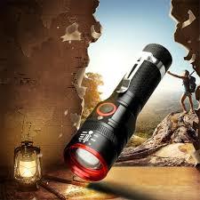 Tre-home&Living*Đèn pin LED siêu sáng T6 3 chế độ 6000LM có thể sạc lại -  Đèn ngoài trời