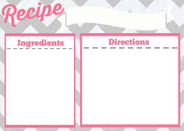 card recipe recipe card printable simply stacie