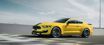 ford muscle cars 2018. 2018 shelby gt350 in triple yellow tri coat with available over the top racing stripe. ford muscle cars