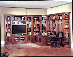 home office simple neat. Astonishing Ideas For Home Office Decoration Using Cherry Wood Computer Desk Along With Black Leather Chair And L Shape Wall Bookcase Simple Neat
