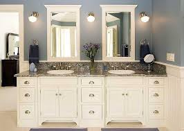 white bathroom cabinets. Delighful Cabinets A White Bathroom Storage Cabinet Blends Well With Most Decor You Can Also  Experiment Different Textureshere Are 25 White Bathroom Cabinets Ideas With Pinterest