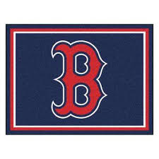 mlb boston red sox navy blue 8 ft x 10 ft indoor area rug