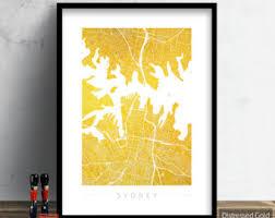 sydney street map etsy
