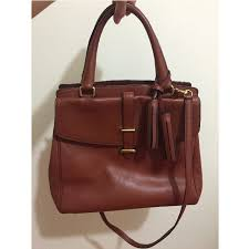 COACH Legacy Cognac Brown Brass Leather North South Satchel Tote (MEDIUM),  Luxury, Bags   Wallets on Carousell