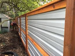 corrugated metal fence. Exellent Fence Modern Design Corrugated Metal And Wood Fence Galvanized  Landscape With E