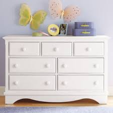 white kids dresser. Kids Dressers: 7-Drawer White Walden Dresser - B
