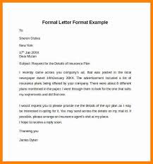 formal letter example formal letter format example