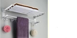hanging towel. Aluminum Hanging Towel Racks Folding Shelves 60Cm Bath Holder Home Bathroom Accessories Banheiro Estante Toalla