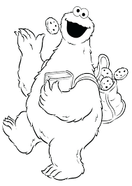 Cookie Monster Coloring Pages Psubarstoolcom