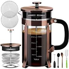 Here are a few tips on how to order coffee in french to get you started. Amazon Com Mueller French Press Double Insulated 310 Stainless Steel Coffee Maker 4 Level Filtration System No Coffee Grounds Rust Free Dishwasher Safe Kitchen Dining