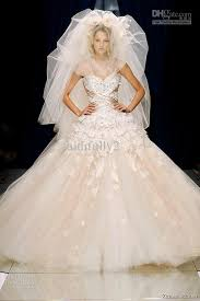 discount zuhair murad tulle wedding dress ivory lace beaded